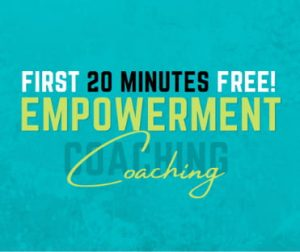 Free empowerment coaching to help you go deeper spiritually and achieve your goals.