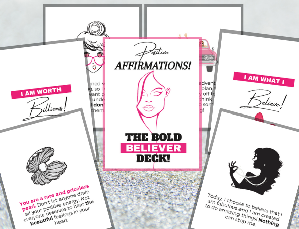 50 Positive Affirmations (Bold Believer Deck)