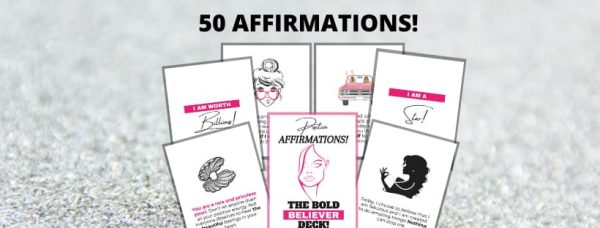 50 Daily Affirmation Cards for Women!