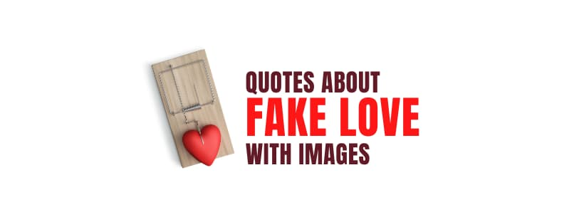 Quotes About Fake Love with Images