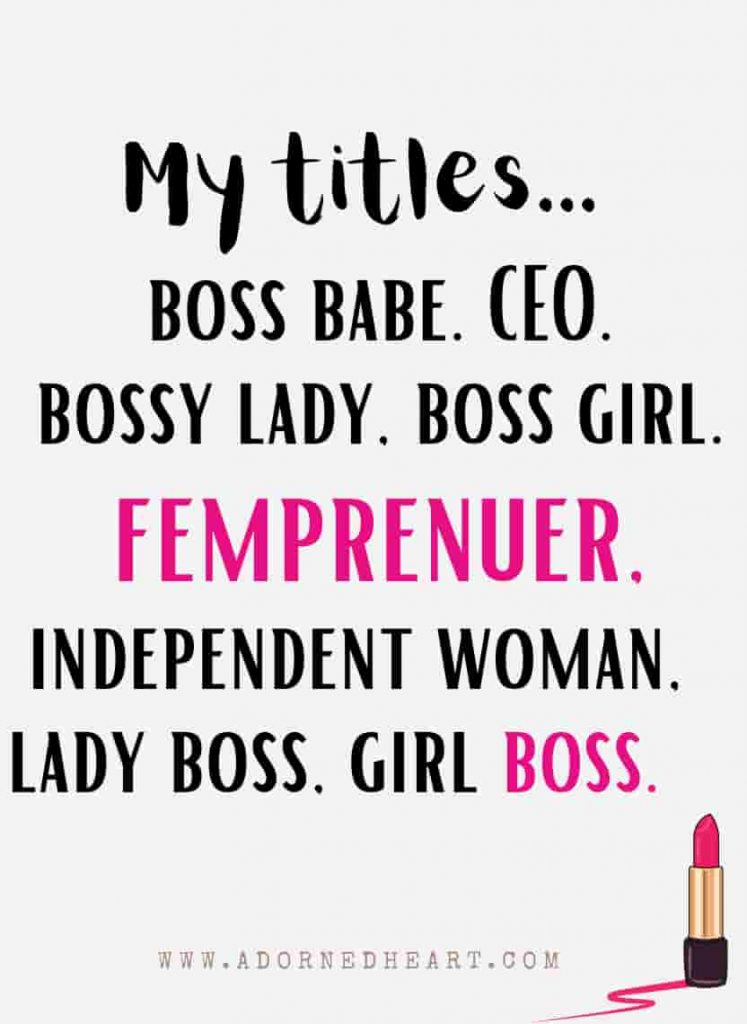 another word for boss lady